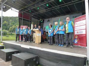 Abschlusskundgebung am Elbkai in Bad Schandau