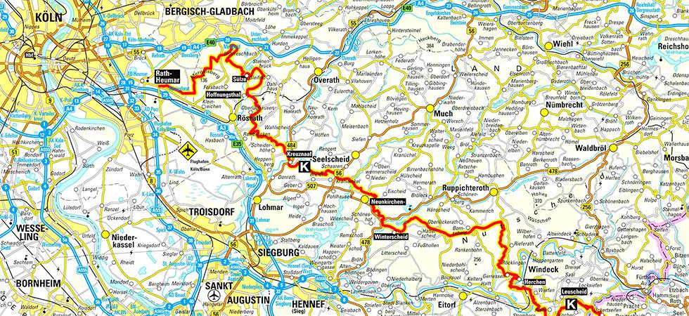 Karte des Kölner Weges