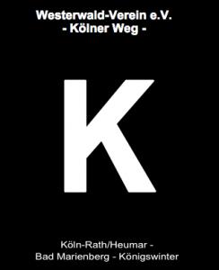 Weegemarkierung des Zweigvereins Köln